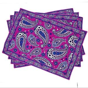 VERA BRADLEY Boysenberry Quilted Placemats - Set 4